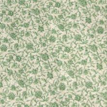 100% Cotton Green and Beige Floral Print Fabric